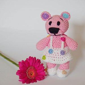 háčkovaný medvedík