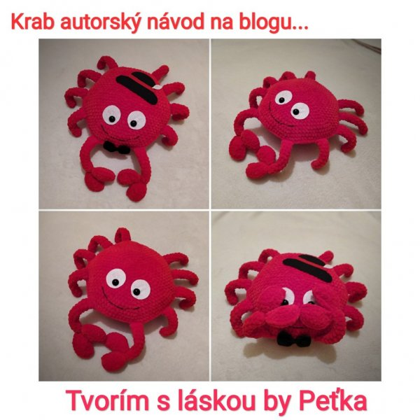 návod na háčkovanie - krab